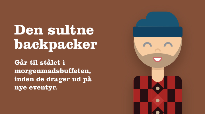 Den sultne backpacker