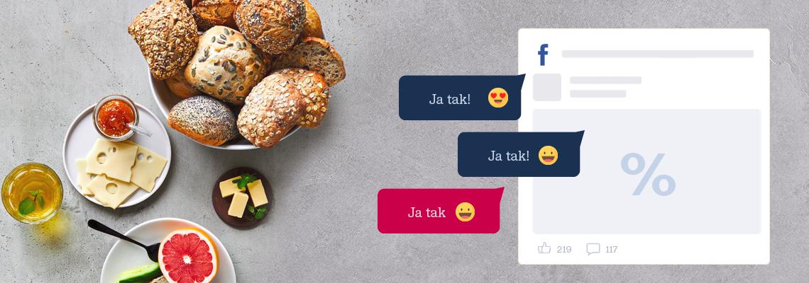 JA TAK-tilbud på Facebook - Sådan kommer du i gang